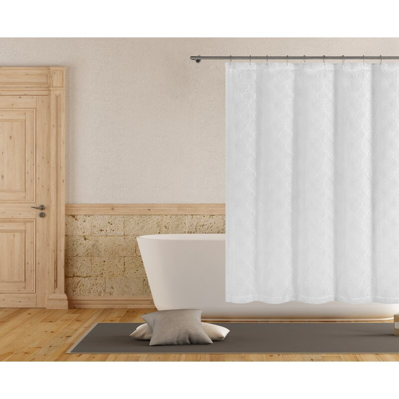 Rhea Embroidered Shower Curtain