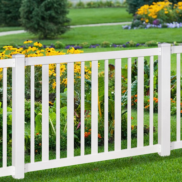 4 ft. H x 6 ft. W Sturbridge Yard and Pool Fence by Wam Bam No-Dig Fence