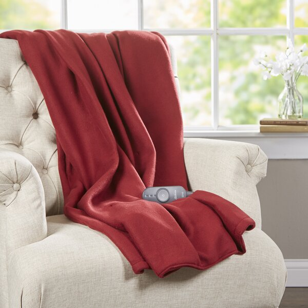 Fleece Heated Throw by Sunbeam