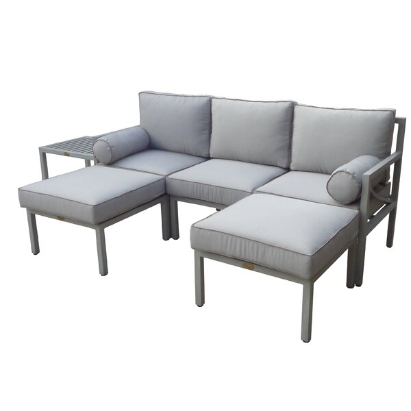 Wrigley 6 Piece Sectional Seating Group with Cushions by Brayden Studio Brayden Studio