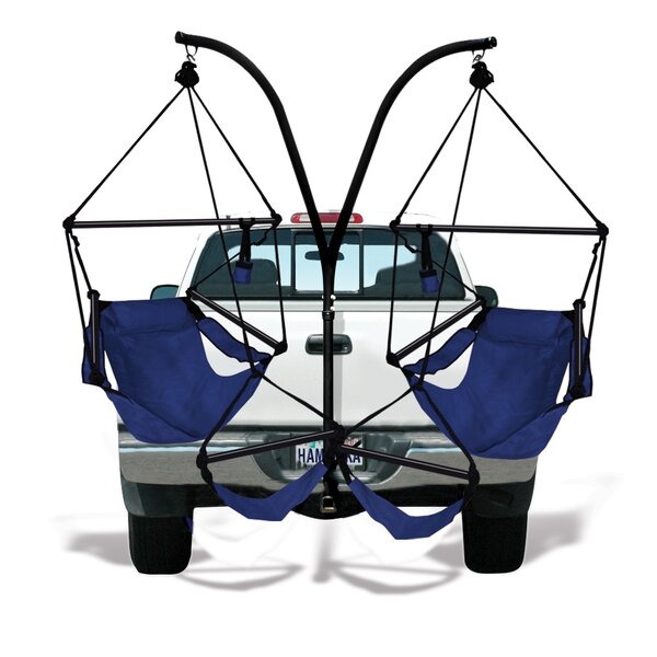 Trailer Hitch Stand Cotton Chair Hammock with Stand by Hammaka
