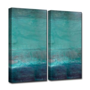 'Oversized Abstract' 2 Piece Graphic Art on Canvas Set by Latitude Run