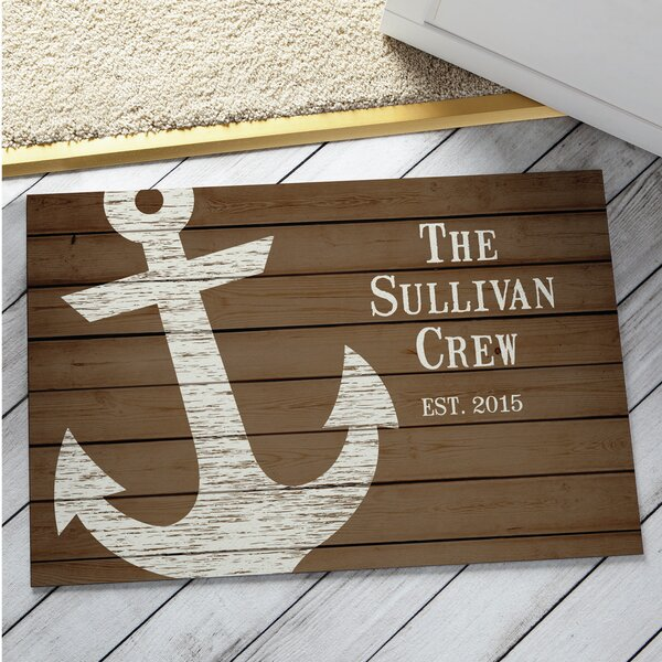 Wyrick Anchor Personalized Family Doormat by Breakwater Bay