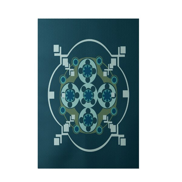 Hand-Woven Teal/Aqua Indoor/Outdoor Area Rug by e by design
