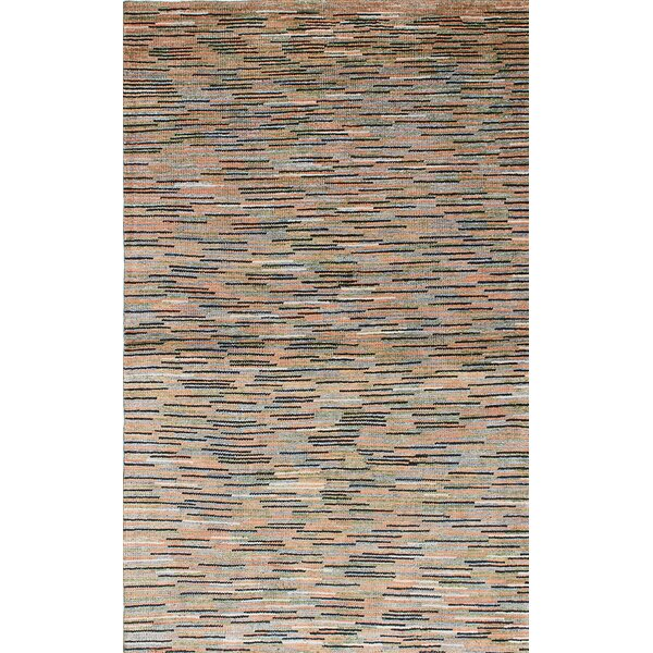 One-of-a-Kind Jojola Hand-Knotted Black/Beige Area Rug by Latitude Run
