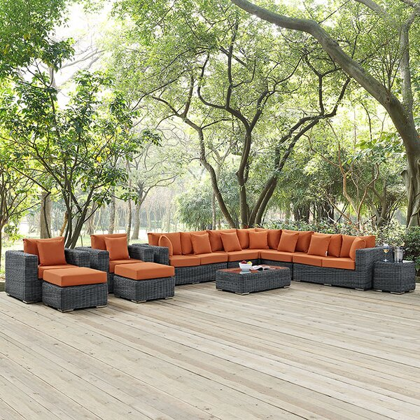 Keiran 11 Piece Sunbrella Sectional Set with Cushions by Brayden Studio