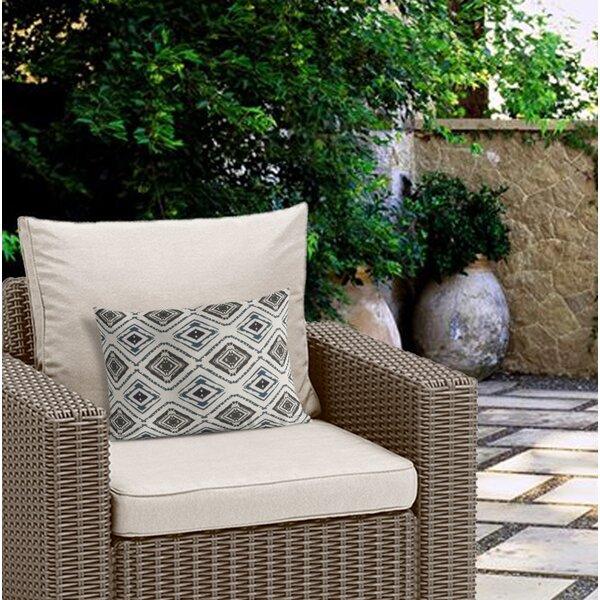 Bates Cotton Indoor / Outdoor Geometric Lumbar Pillow