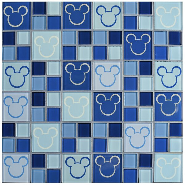 Disney Mickey Glass Mosaic Tile in Blue by EliteTile