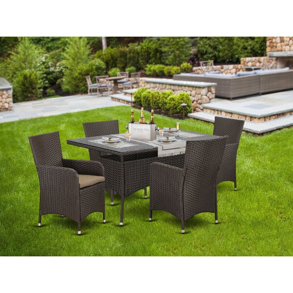 Smither Patio 5 Piece Dining Set with Cushions by Brayden Studio