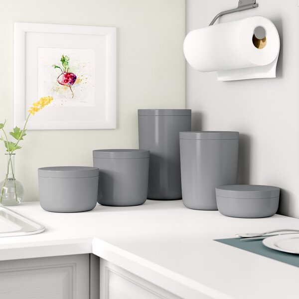 5 Piece Kitchen Canister Set by Rebrilliant