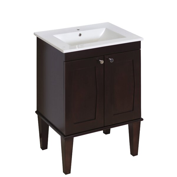 Latshaw Floor Mount 23.75 Single Bathroom Vanity Set by Alcott Hill