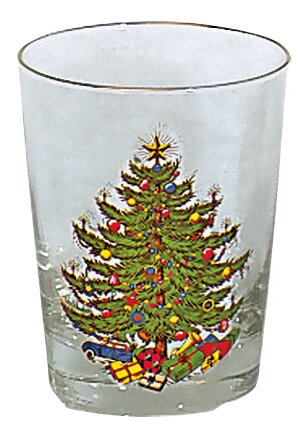 Original Christmas Tree 15 Oz. Casual Double Old Fashioned Glass (Set of 4) by The Holiday Aisle