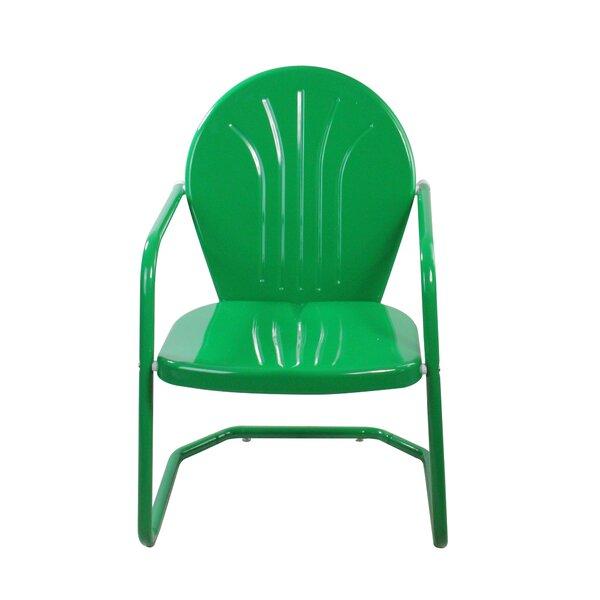 Korando Outdoor Metal Tulip Patio Chair by Ebern Designs