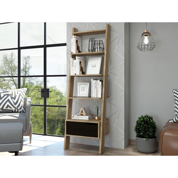 Mylah Leaning Ladder Bookcase By Union Rustic