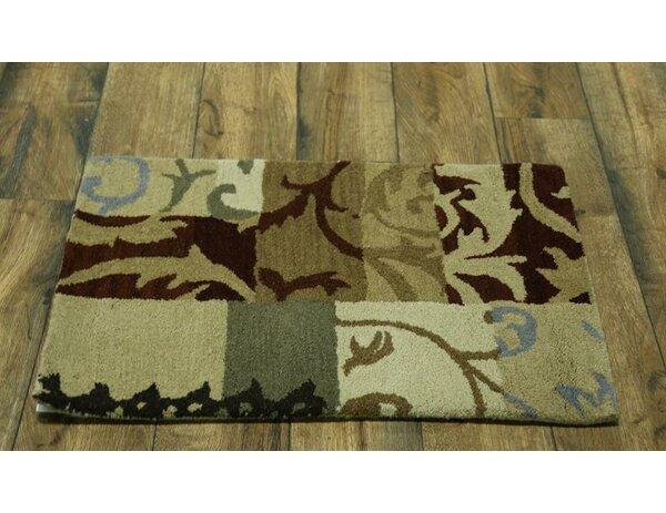 Robinson Patchwork Oriental Hand-Tufted Wool Beige/Ivory Area Rug by Fleur De Lis Living