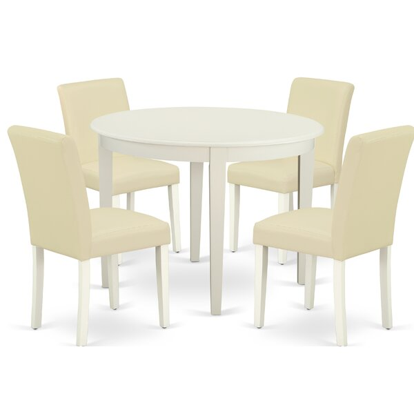 Frostia 5 Piece Solid Wood Dining Set by Winston Porter Winston Porter