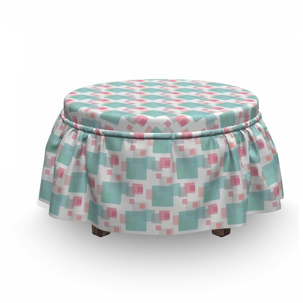 Rectangles Ottoman Slipcover (Set Of 2) By East Urban Home