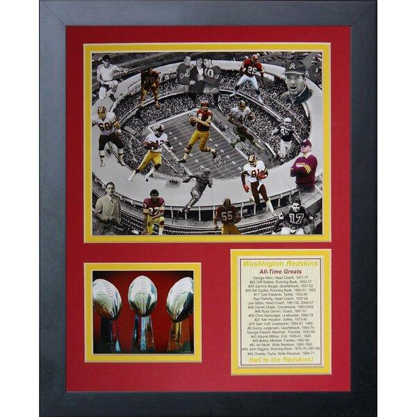 Washington Redskins All Time Greats Framed Memorabilia by Legends Never Die