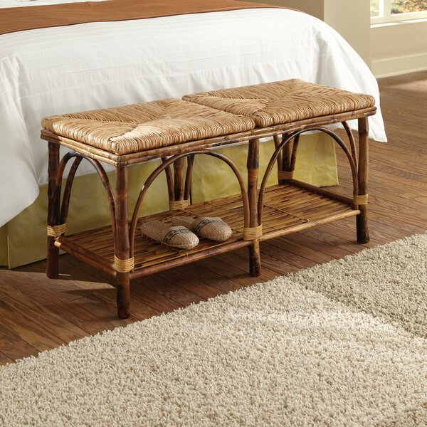 Grier Wood Storage Bench by Highland Dunes
