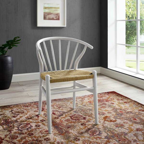 Weedman Solid Wood Dining Chair by Bungalow Rose