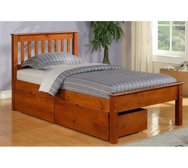 Hopkins Full Platform Bed with Trundle and Drawers by Harriet Bee
