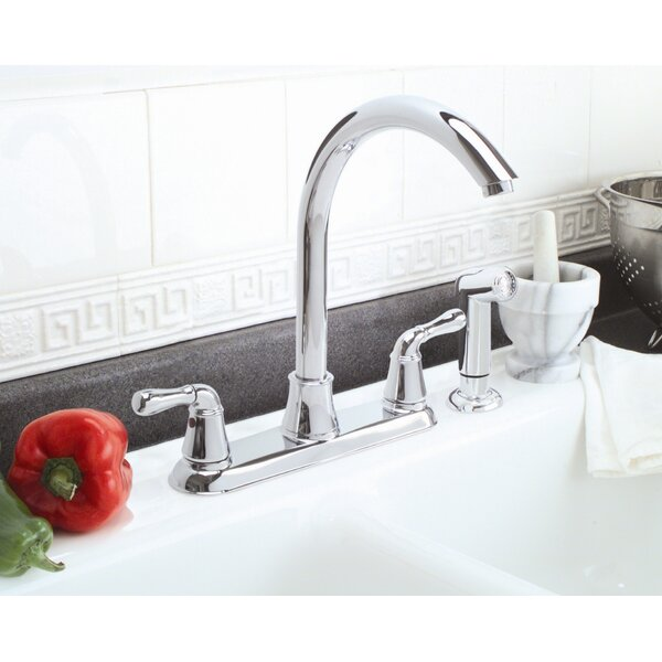 Sanibel Double Handle Kitchen Faucet with Side Spray by Premier Faucet