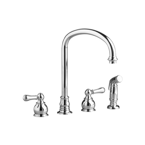 Hampton Double Handle Kitchen Faucet with Side Spray by American Standard