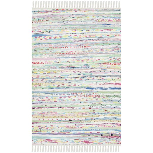 One-of-a-Kind Lansing Hand-Woven White Area Rug by Mistana