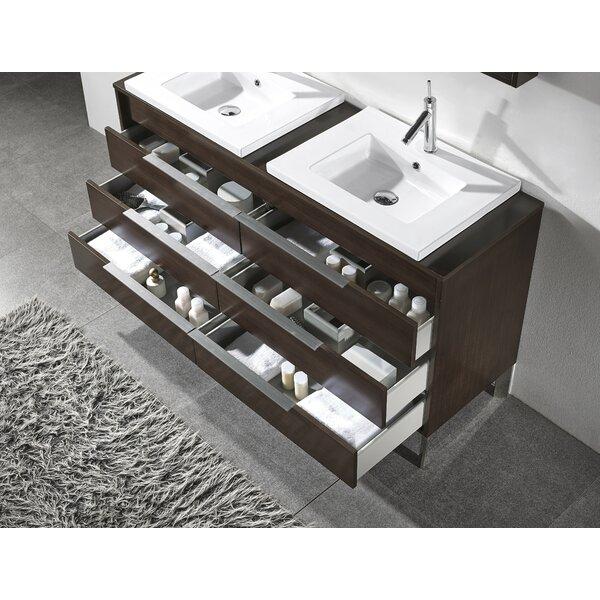 Milano 60 Double Bathroom Vanity Set with Mirror by Adornus