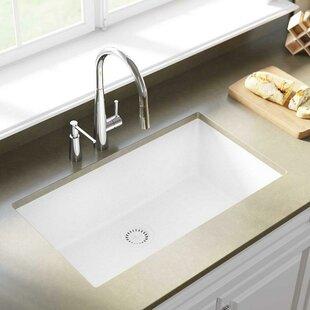 White Undermount Sink Kitchen   Wayfair
