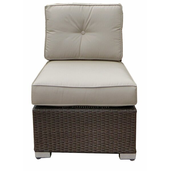 Tampa Armless Chair with Cushion by World Wide Wicker