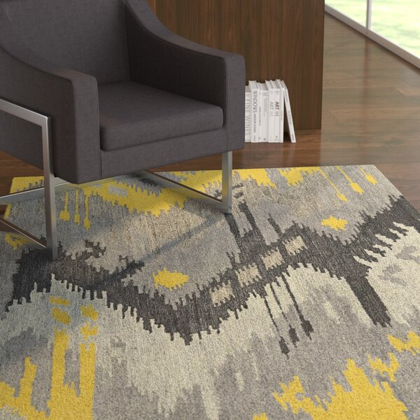 Dodge Gray Area Rug by Ebern Designs