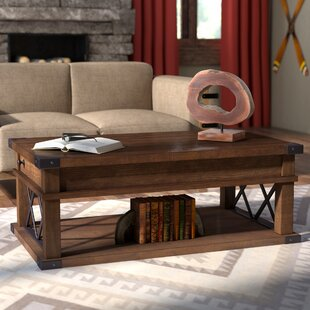 Review Fusillade Lift Top Coffee Table by Loon Peak
