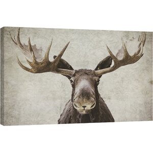 Wildlife and Lodge 'Elmer' Painting Print on Wrapped Canvas by Ashton Wall Décor LLC