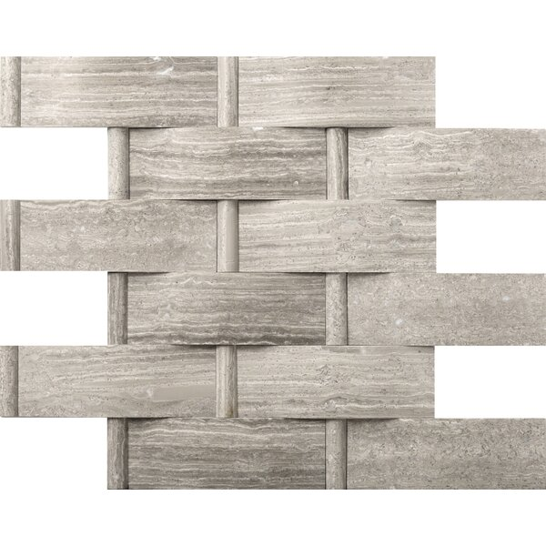 Metro Lattice 2 x 4 Marble Mosaic Tile in Gray by Emser Tile