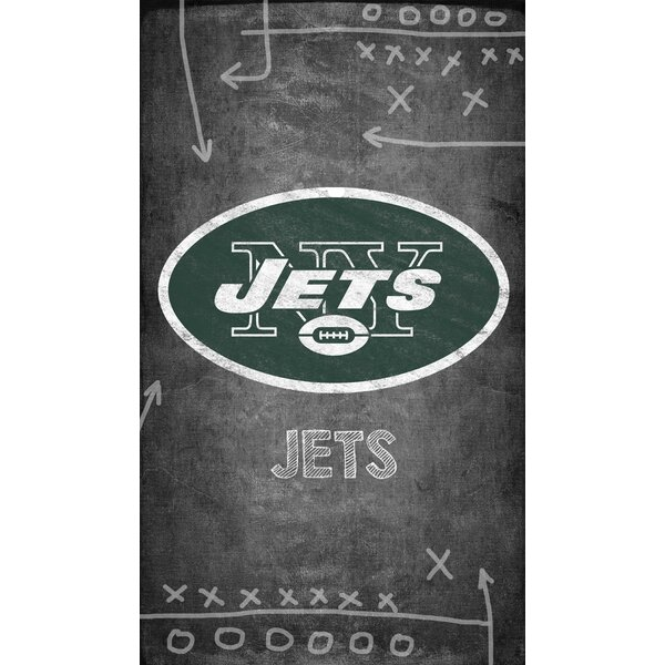 NFL Chalk Board Graphic Art Print on Canvas by Fan Creations