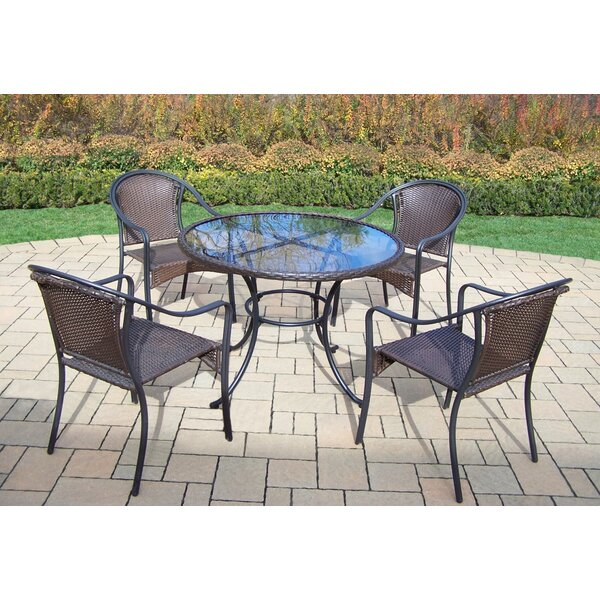 Kingsmill Traditional 5 Piece Dining Set by Rosecliff Heights