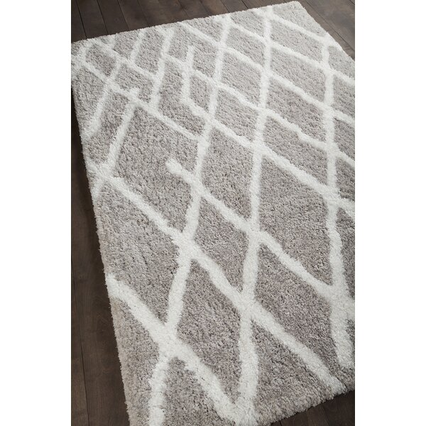 Manolla Hand-Woven Gray/White Area Rug by Union Rustic