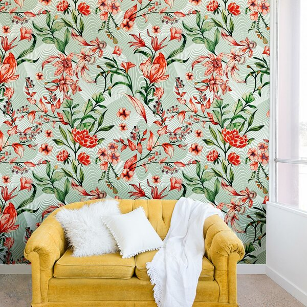 Marta Barragan Camarasa Exotic tropical Bloom Wall Mural by East Urban Home