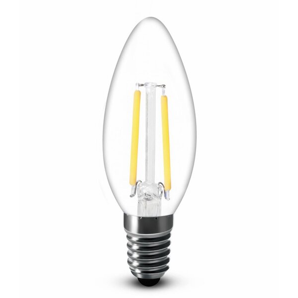 4W E12/Candelabra LED Vintage Filament Light Bulb (Set of 4) by AM Conservation Group