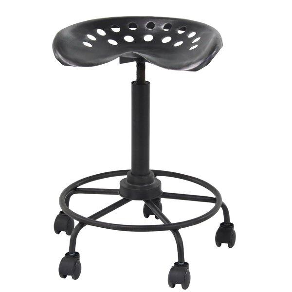 Steelton Modern Adjustable Height Bar Stool with Wheels by Gracie Oaks