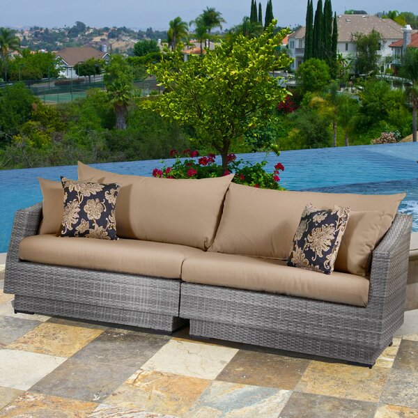 Castelli Patio Sofa with Cushions by Wade Logan
