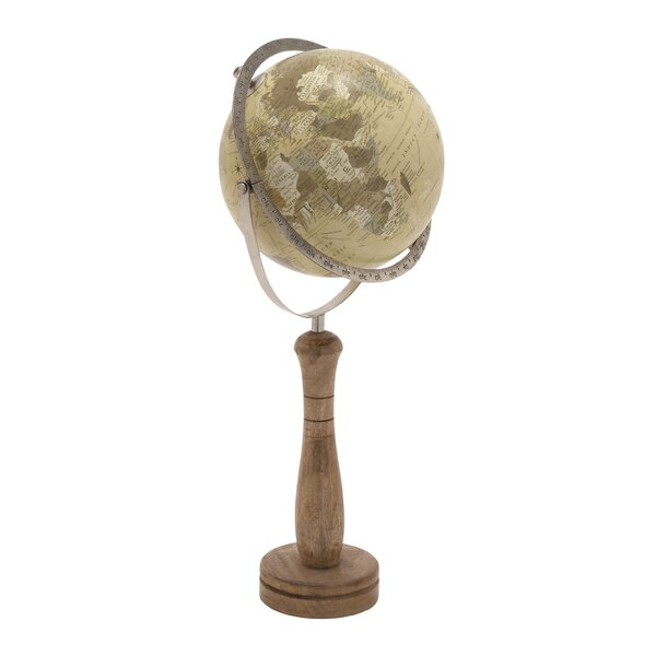 Wood and Metal PVC Globe by Cole & Grey