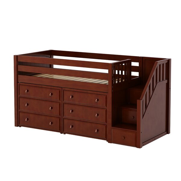 Bolduc Twin Low Loft Bed with Drawers by Harriet Bee