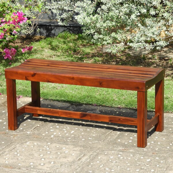 Gabbert Wooden Garden Bench by August Grove