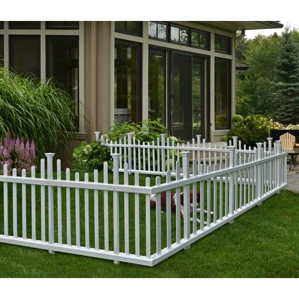 2 5 Ft H X 5 Ft W Madison No Dig Garden Fence Panel Set Of 2 By Zippity Outdoor Products.