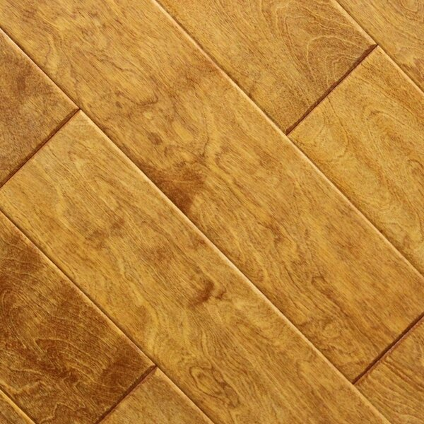5 x 48 x 2.7mm Birch Laminate Flooring in Caramel (Set of 22) by Serradon