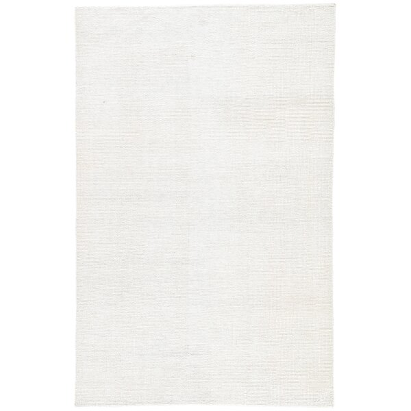 Orleanna Handwoven Flatweave White Indoor/Outdoor Area Rug by Ebern Designs