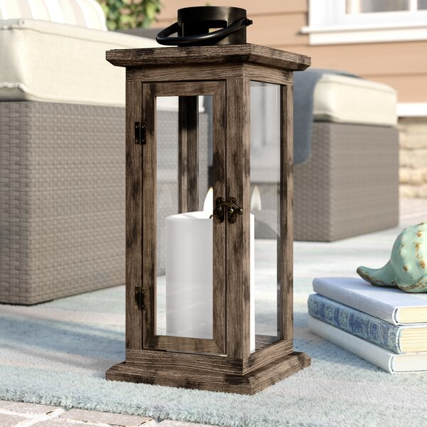 Wood Lantern by Beachcrest Home