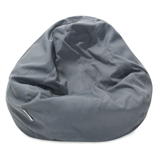 Solid Classic Bean Bag Chair by Majestic Home Goods